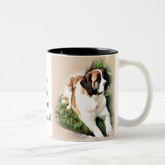 Saint Bernard Lovers Gifts Two-Tone Coffee Mug