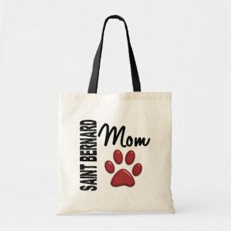 Saint Bernard Mom 2 Budget Tote Bag