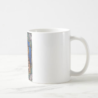 Saint Bernard of Clairvaux Stained Glass Art Coffee Mug