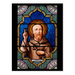 Saint Bernard of Clairvaux Stained Glass Art Post Cards