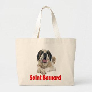 Saint Bernard Puppy Dog Canine  Red Love Large Tote Bag