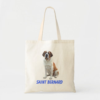 Saint Bernard Puppy Dog Canvas Grocery Totebag Budget Tote Bag