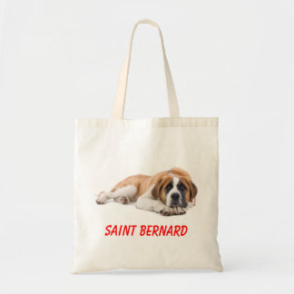Saint Bernard Puppy Dog Canvas  Large Totebag Canvas Bags