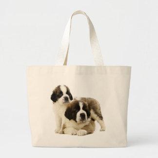 Saint Bernard Puppy Dog -  Love St. Bernard Large Tote Bag