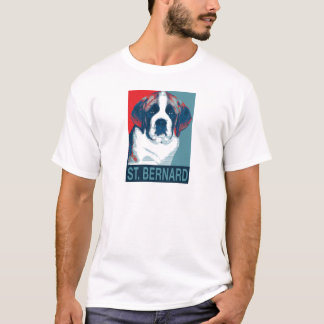 Saint Bernard Puppy Hope Political Parody Design T-Shirt