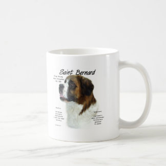 Saint Bernard (rough) History Design Coffee Mug