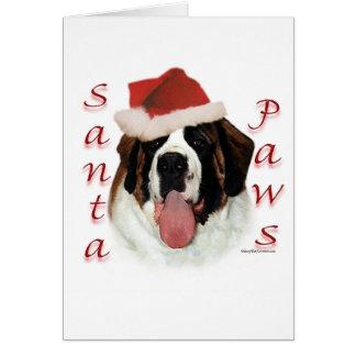 Saint Bernard Santa Paws Card