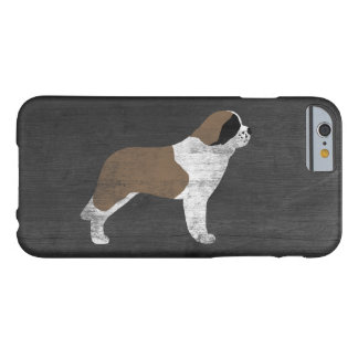 Saint Bernard Silhouette Rustic Barely There iPhone 6 Case