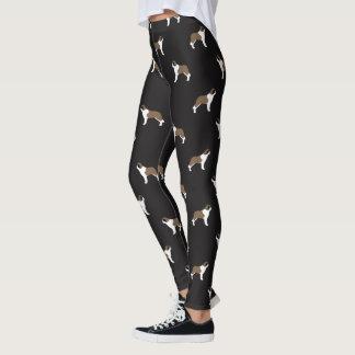 Saint Bernard Silhouettes Pattern Leggings