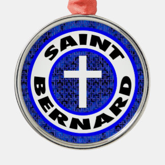 Saint Bernard Silver-Colored Round Decoration