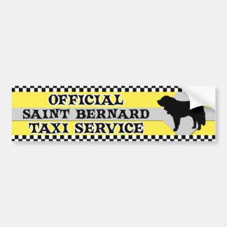Saint Bernard Taxi Service Bumper Sticker Car Bumper Sticker