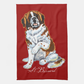 saint bernard tea towel