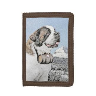 Saint Bernard Tri-fold Wallet