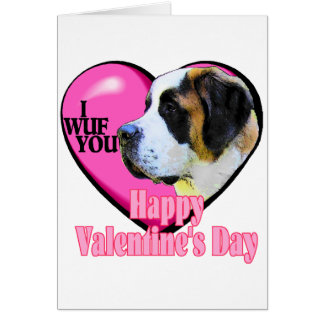 Saint  Bernard Valentine's Day Gifts Greeting Card