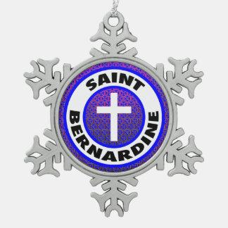 Saint Bernardine Pewter Snowflake Decoration