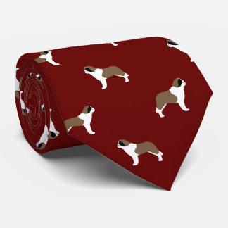 Saint Bernards Pattern Tie