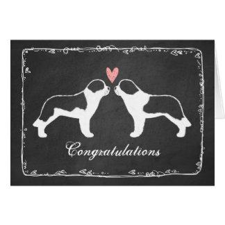 Saint Bernards Wedding Congratulations Card