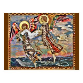 Saint Bride Carried by Angels Postcard