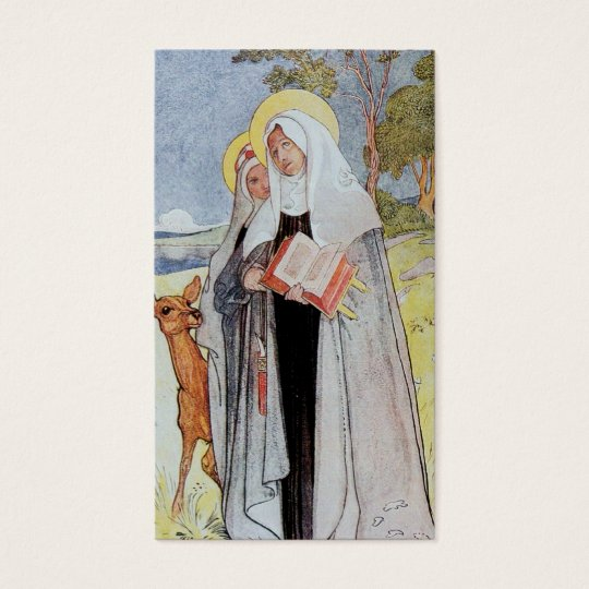 Saint Bridget and Deer Business Card