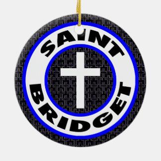 Saint Bridget Round Ceramic Decoration