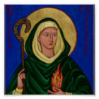 Saint Brigid with Holy Fire Poster