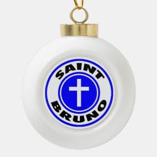 Saint Bruno Ceramic Ball Christmas Ornament