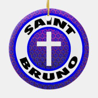 Saint Bruno Round Ceramic Decoration