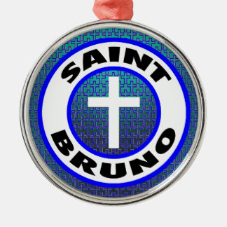 Saint Bruno Silver-Colored Round Decoration