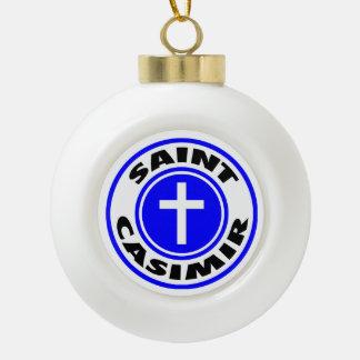 Saint Casimir Ceramic Ball Decoration