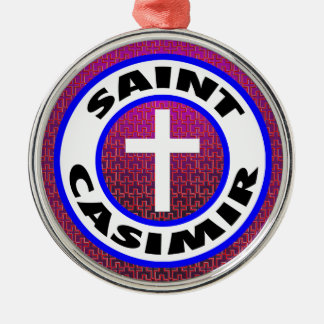 Saint Casimir Silver-Colored Round Decoration