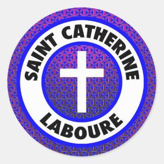 Saint Catherine Laboure Round Sticker