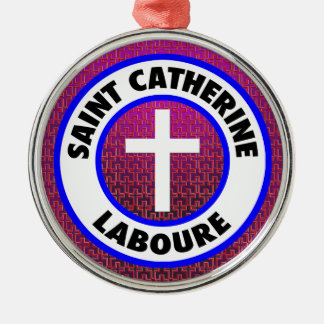 Saint Catherine Laboure Silver-Colored Round Decoration