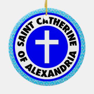 Saint Catherine of Alexandria Round Ceramic Decoration