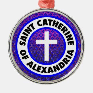 Saint Catherine of Alexandria Silver-Colored Round Decoration