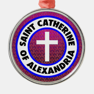 Saint Catherine of Alexandria Silver-Colored Round Decoration