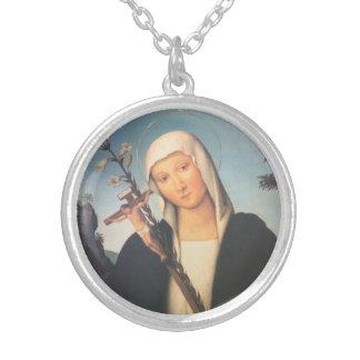 Saint Catherine of Siena Neckalce Round Pendant Necklace