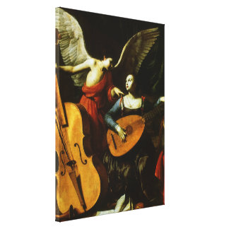 Saint Cecilia and the Angel by Carlo Saraceni Canvas Print