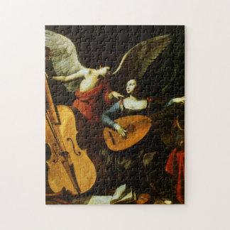 Saint Cecilia and the Angel by Carlo Saraceni Jigsaw Puzzle