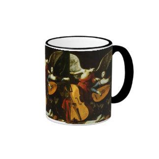 Saint Cecilia and the Angel by Carlo Saraceni Ringer Coffee Mug