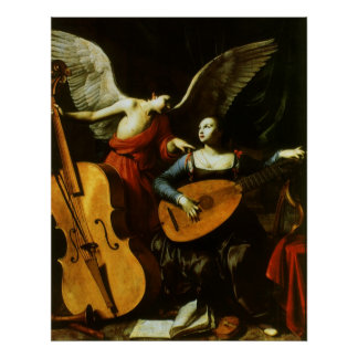 Saint Cecilia and the Angel by Carlo Saraceni Poster