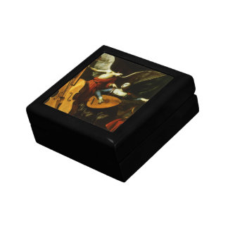 Saint Cecilia and the Angel by Carlo Saraceni Small Square Gift Box