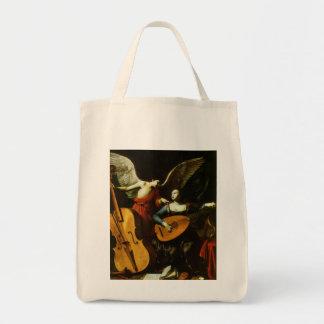 Saint Cecilia and the Angel by Carlo Saraceni Tote Bag