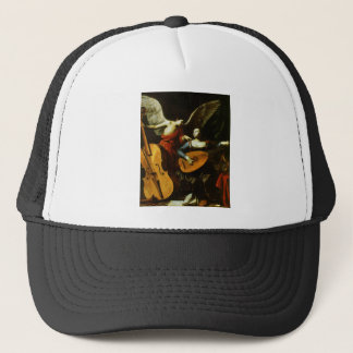 Saint Cecilia and the Angel by Carlo Saraceni Trucker Hat
