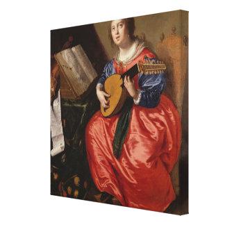 Saint Cecilia (oil on canvas) Canvas Print