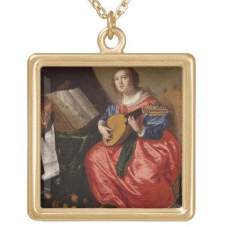 Saint Cecilia oil on canvas Necklaces
