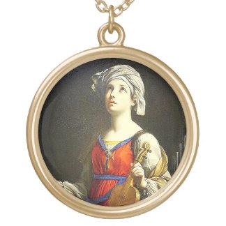 Saint Cecilia Patron of Musicians Necklace