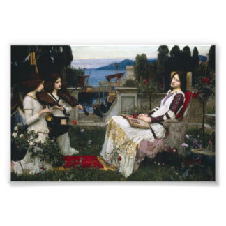 Saint Cecilia Serenaded by Angels with Violins Art Photo