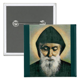 Saint Charbel Portrait 15 Cm Square Badge