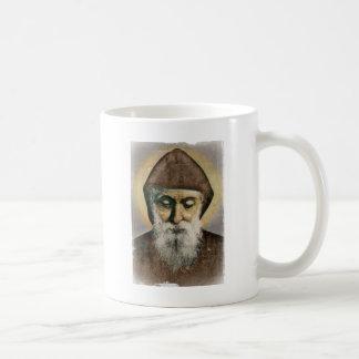 Saint Charbel Portrait Basic White Mug