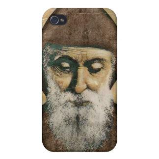 Saint Charbel Portrait Covers For iPhone 4